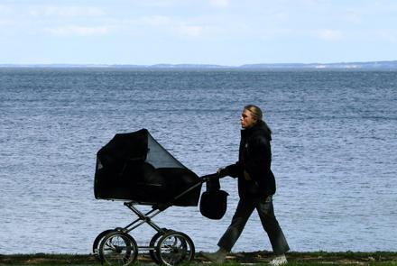 barnvagnspromenad gå rätt